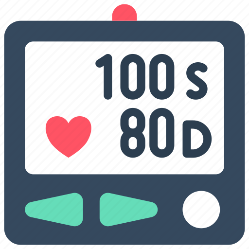 blood pressure, doctor, equipment, hospital, medical, monitor, patient icon