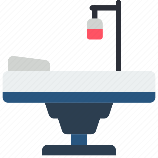 bed, doctor, equipment, hospital, medical, patient, surgical icon