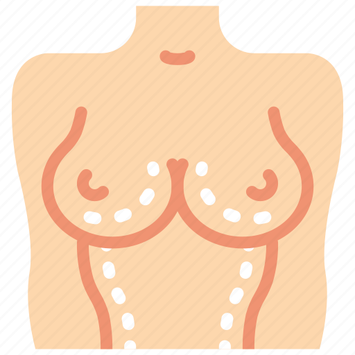 breast, doctor, hospital, medical, patient, surgery, upper body icon