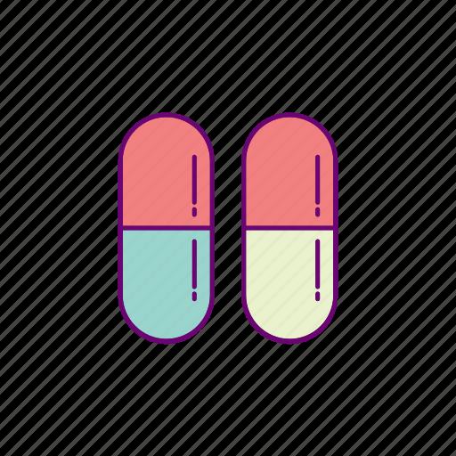 capsule, hospital, medical, pills icon