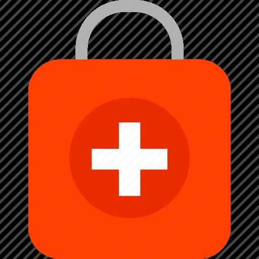 ambulance, care, emergency, health, hospital, kit, medical icon
