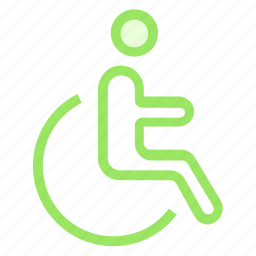 accessbility, disable, interface, verticle icon