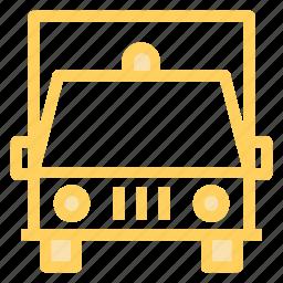 ambulance, emergency, rescue, vehicle icon