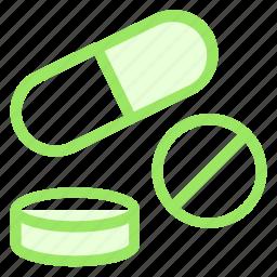 drugs, medicine, pharmacy, pills icon