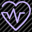 health, heart, life, pulses icon