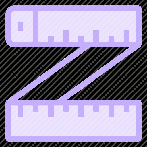 geometry, measure, ruler, tape icon