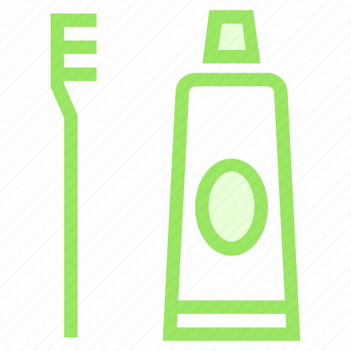 brush, hygiene, toothpaste, tube icon