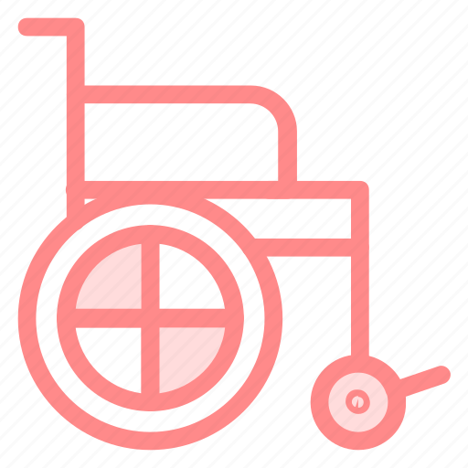 healthcare, injury, patient, wheelchair icon