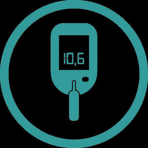 blood sugar measurement, diabetes, sugar icon