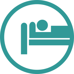 bed, hospital, patient icon