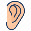 audio, ear, hear, hearing, listen icon