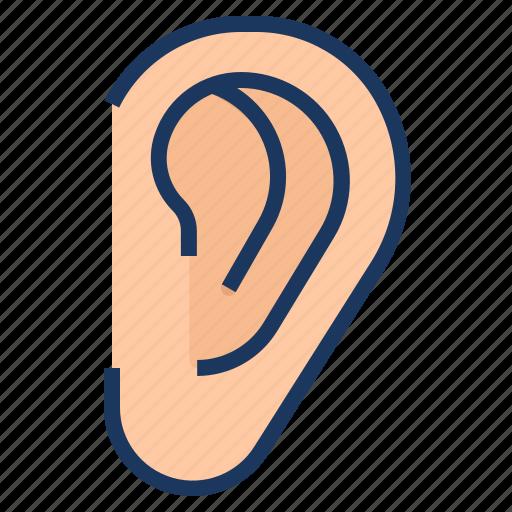 audio, ear, hear, hearing, listen icon