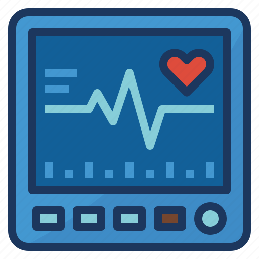 healthcare, heart, monitor, pulse, rate icon