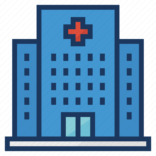 Building, medical, hospital, clinic, healthcare icon