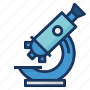 laboratory, medical, microscope, research, science, zoom icon