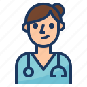 avatar, care, health, medical, nurse icon