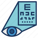 chart, exam, examination, eye, optical, snellen, vision icon