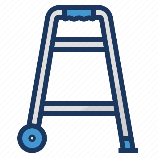 disability, disable, equipment, healthcare, medical, walker icon