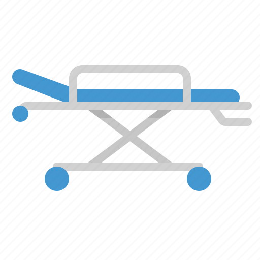 bed, equipment, hospital, medical, stretcher icon