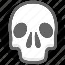 dead, health, healthcare, life, medical, skull icon