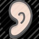 ear, hear, hearing icon