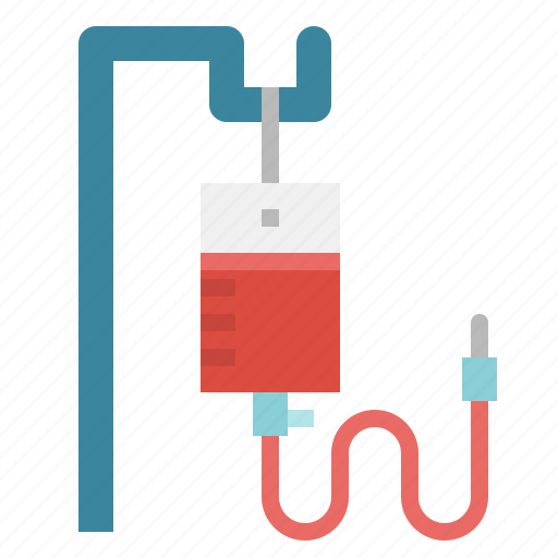 bag, blood, care, saline, surgery, transfusion icon