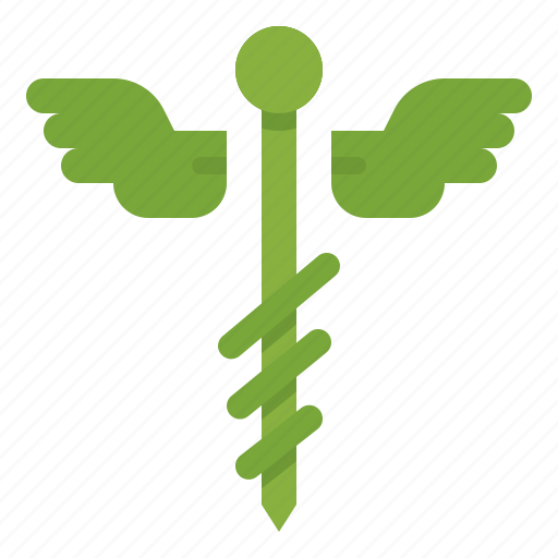 body, caduceus, care, health, medical, part icon