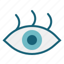 eye, medical, ophthalmology, optical, parts, vision icon