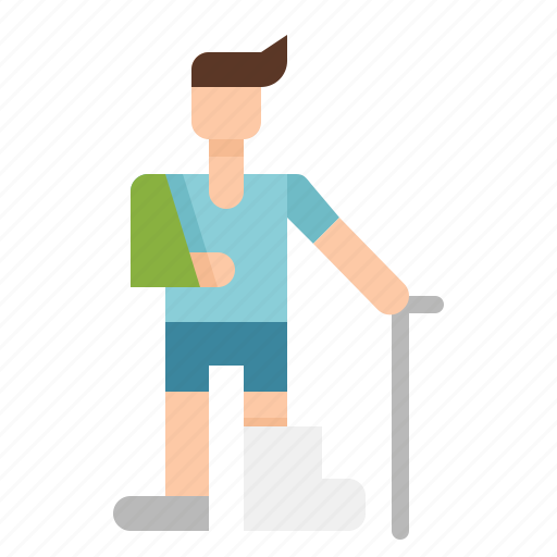 health, injured, patient, persons icon
