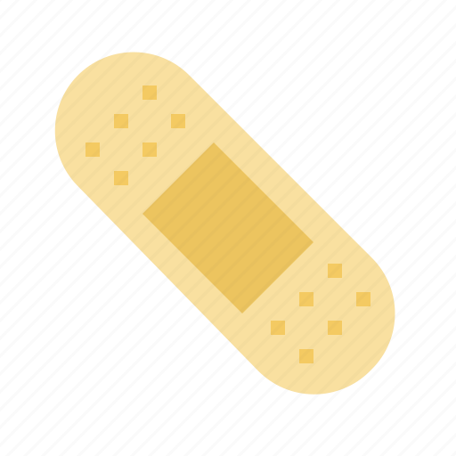 aid, band, heal, plaster, sticking icon
