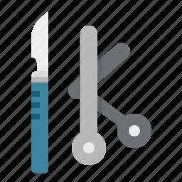 medical, operation, operations, scissors, surgeon, surgery icon