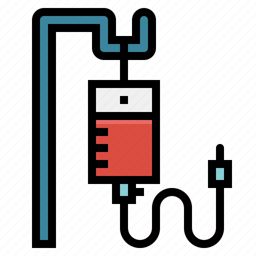 bag, blood, care, saline, surgery, transfusion icon