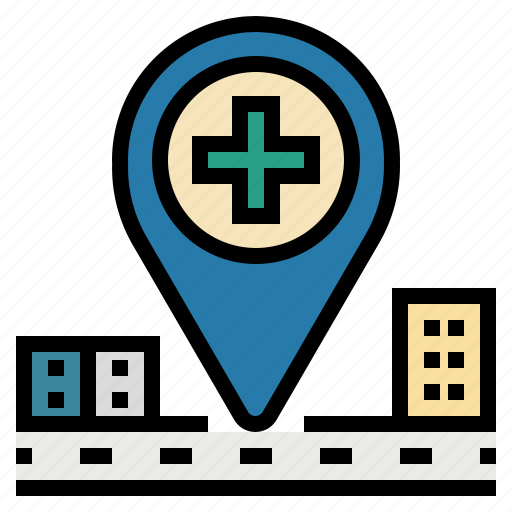 gps, hospital, location, map, placeholder, point icon