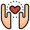 clinic, hands, health, heart, hospital, love icon