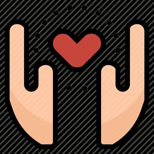 clinic, hands, health, heart, hospital, love icon