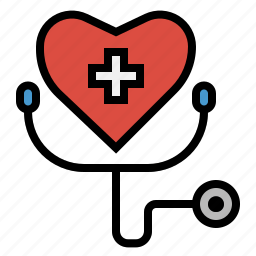 clinic, health, heart, hospital, medical, signs icon