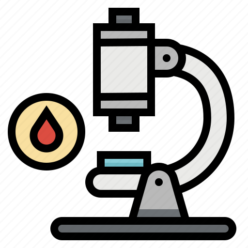blood, medical, microscope, observation, science, scientific icon