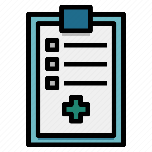 checking, clipboard, medical, report icon
