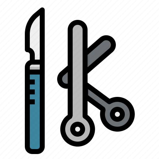 medical, operation, operations, scissors, surgeon, surgery icon