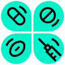 checkup, drug, health, medical, syringe icon