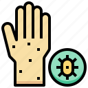 allergic, check, hand, health, medical, virus icon