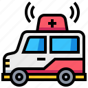ambulance, car, medical, transport, transportation, vehicle icon