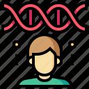 checkup, dna, genetic, health, human, medical icon