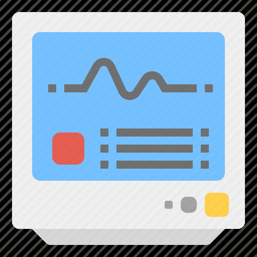 icu, medical, monitor, pulse icon