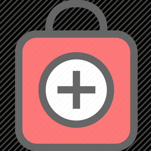 aid, care, health, healthcare, kit, medical icon