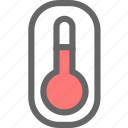 body temperature, temperature, thermometer icon