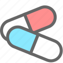capsule, drugs, healthcare, medication icon
