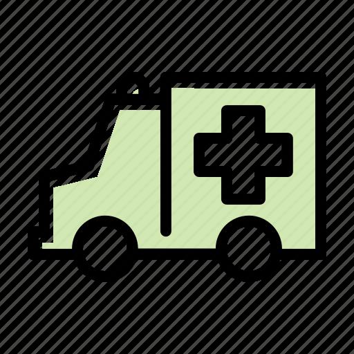 ambulance, emergency, hospital, medical, vehicle icon