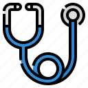 accessories, doctor, equipment, medical, stethoscope icon