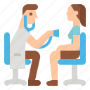 check, doctor, health, medical, patient, up icon